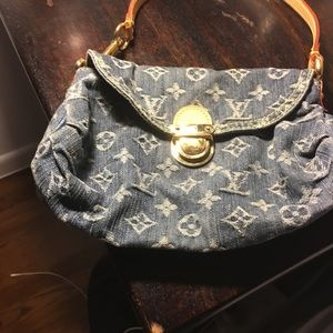 Louis Vuitton Blue Denim Pleaty Bag